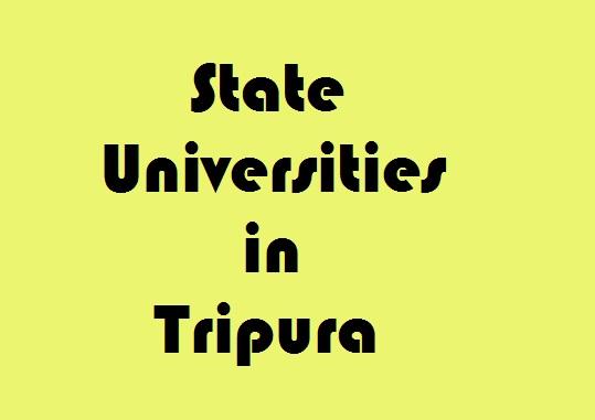State Universities in Tripura