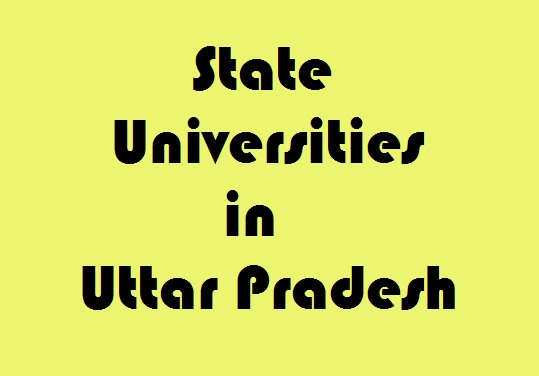 State Universities in Uttar Pradesh