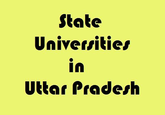 State Universities in Uttar Pradesh