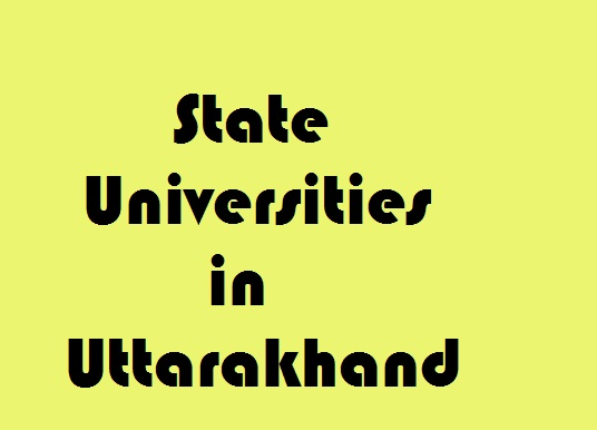 State Universities in Uttarakhand